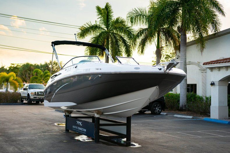 Thumbnail 1 for Used 2019 Hurricane SunDeck SD 2410 OB boat for sale in West Palm Beach, FL