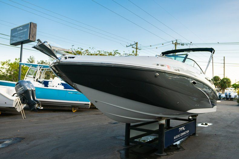 Thumbnail 3 for Used 2019 Hurricane SunDeck SD 2410 OB boat for sale in West Palm Beach, FL