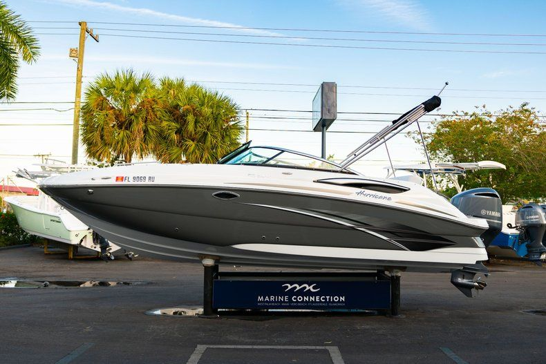 Thumbnail 4 for Used 2019 Hurricane SunDeck SD 2410 OB boat for sale in West Palm Beach, FL