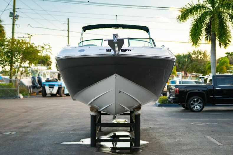 Thumbnail 2 for Used 2019 Hurricane SunDeck SD 2410 OB boat for sale in West Palm Beach, FL