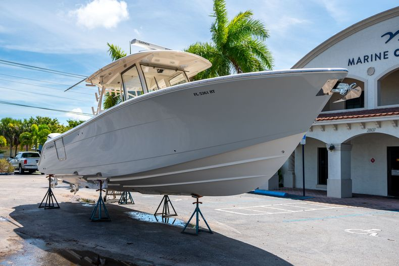 Thumbnail 1 for Used 2019 Cobia 344 Center Console boat for sale in West Palm Beach, FL