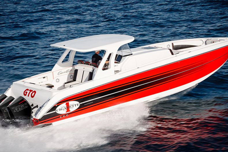 Thumbnail 1 for Used 2017 Cigarette 42 GTO Huntress boat for sale in West Palm Beach, FL