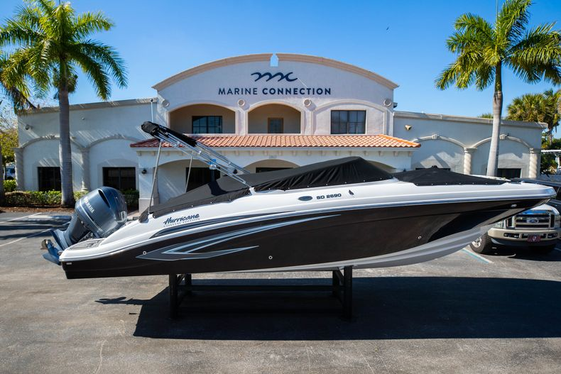 Thumbnail 1 for New 2021 Hurricane SunDeck SD 2690 OB boat for sale in West Palm Beach, FL