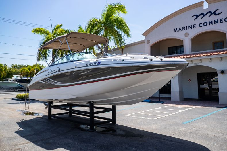 Thumbnail 1 for Used 2015 Hurricane SunDeck SD 2400 OB boat for sale in West Palm Beach, FL