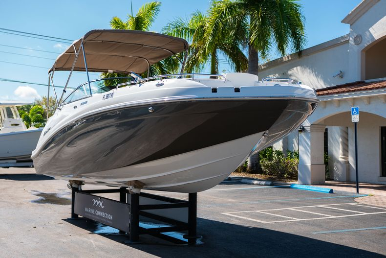 Thumbnail 1 for Used 2016 Hurricane SunDeck SD 2486 OB boat for sale in West Palm Beach, FL