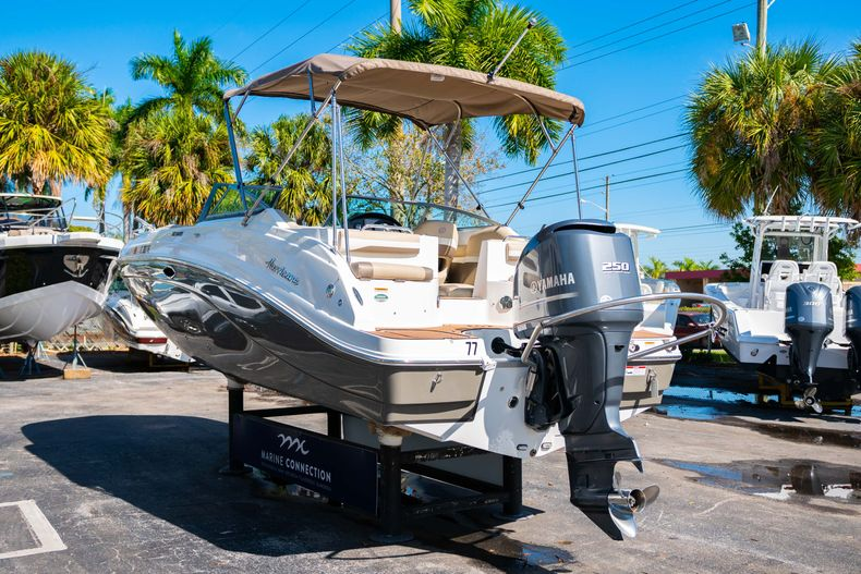 Thumbnail 5 for Used 2016 Hurricane SunDeck SD 2486 OB boat for sale in West Palm Beach, FL