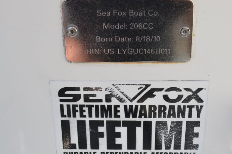 Thumbnail 5 for Used 2011 Sea Fox 206 Center Console boat for sale in Vero Beach, FL